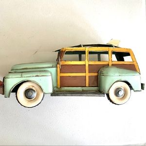 Surfer Retro Woodie Wagon Centerpiece Decoration